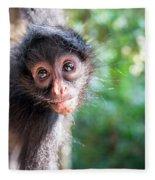 Hanging Spider Monkey Fleece Blanket