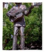 Hank Williams Statue - Montgomery Alabama Fleece Blanket