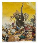Hannibal And Scipio Fleece Blanket
