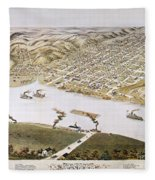 Hannibal, Missouri, 1869 Fleece Blanket