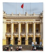 Hanoi Opera House 01 Fleece Blanket