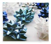Hanukkah Bows- Photography By Linda Woods Fleece Blanket