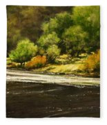 Lewis River Lagoon Fleece Blanket