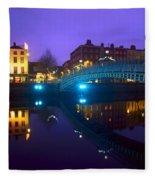Hapenny Bridge, Dublin, Ireland Fleece Blanket