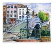 Ha'penny Bridge Dublin Fleece Blanket