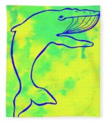 Happier Humpback 1 Fleece Blanket