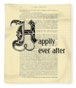 Happily Ever After Fleece Blanket