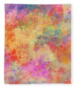 Happiness Abstract Painting Fleece Blanket