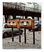 Happy Berlin Mailbox Fleece Blanket