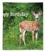 Happy Birthday 1 Fleece Blanket