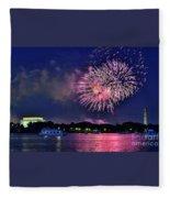 Happy Birthday America # 2 Fleece Blanket