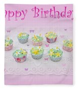 Happy Birthday Fleece Blanket