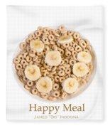 Happy Breakfast Fine Art Poster Fleece Blanket