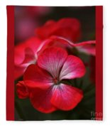 Happy Bright Geranium And Design Fleece Blanket
