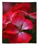 Happy Bright Geranium Fleece Blanket