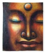Happy Buddha Fleece Blanket