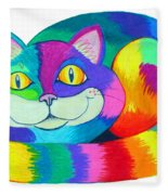 Happy Cat Fleece Blanket