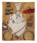 Happy Chef On The Bike Fleece Blanket