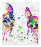 Happy Chihuahuas Fleece Blanket