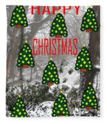 Happy Christmas 22 Fleece Blanket