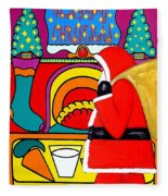 Happy Christmas 30 Fleece Blanket