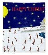 Happy Christmas 27 Fleece Blanket