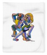 Happy Dancers Fleece Blanket