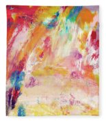 Happy Day- Abstract Art By Linda Woods Fleece Blanket