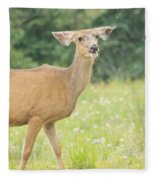 Happy Deer Fleece Blanket