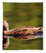 Happy Duck Fleece Blanket