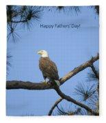 Happy Father's Day Fleece Blanket