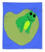 Happy Frog Fleece Blanket