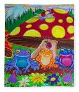 Happy Frog Meadows Fleece Blanket
