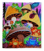 Happy Frog Valley Fleece Blanket