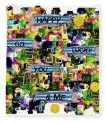 Happy Go Lucky You Fleece Blanket