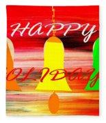 Happy Holidays 11 Fleece Blanket