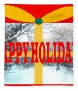 Happy Holidays 21 Fleece Blanket
