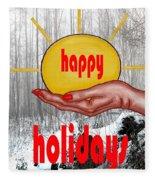 Happy Holidays 26 Fleece Blanket