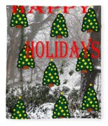 Happy Holidays 29 Fleece Blanket