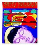 Happy Holidays 67 Fleece Blanket