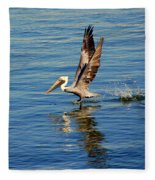 Happy Landing Pelican Fleece Blanket