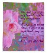 Happy Mothers Day 2 Fleece Blanket