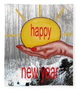 Happy New Year 22 Fleece Blanket