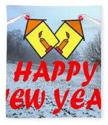 Happy New Year 24 Fleece Blanket