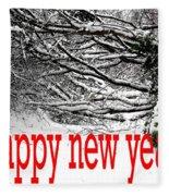 Happy New Year 33 Fleece Blanket