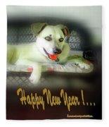 Happy New Year Art 2 Fleece Blanket