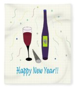 Happy New Year Fleece Blanket