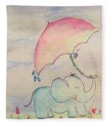 Happy Rain  Fleece Blanket