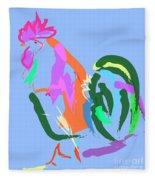 Happy Rooster Fleece Blanket