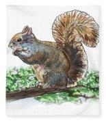 Happy Squirrel  Fleece Blanket